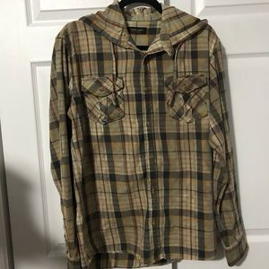 88. ZARA YOUNG PLAID SHIRT WITH HOODIE